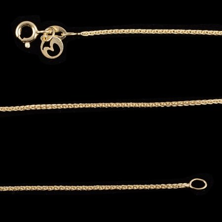 Girl Daisy Chain (Women's Girls 14K Yellow Gold Over Sterling Silver Foxtail Chain Jewelry)