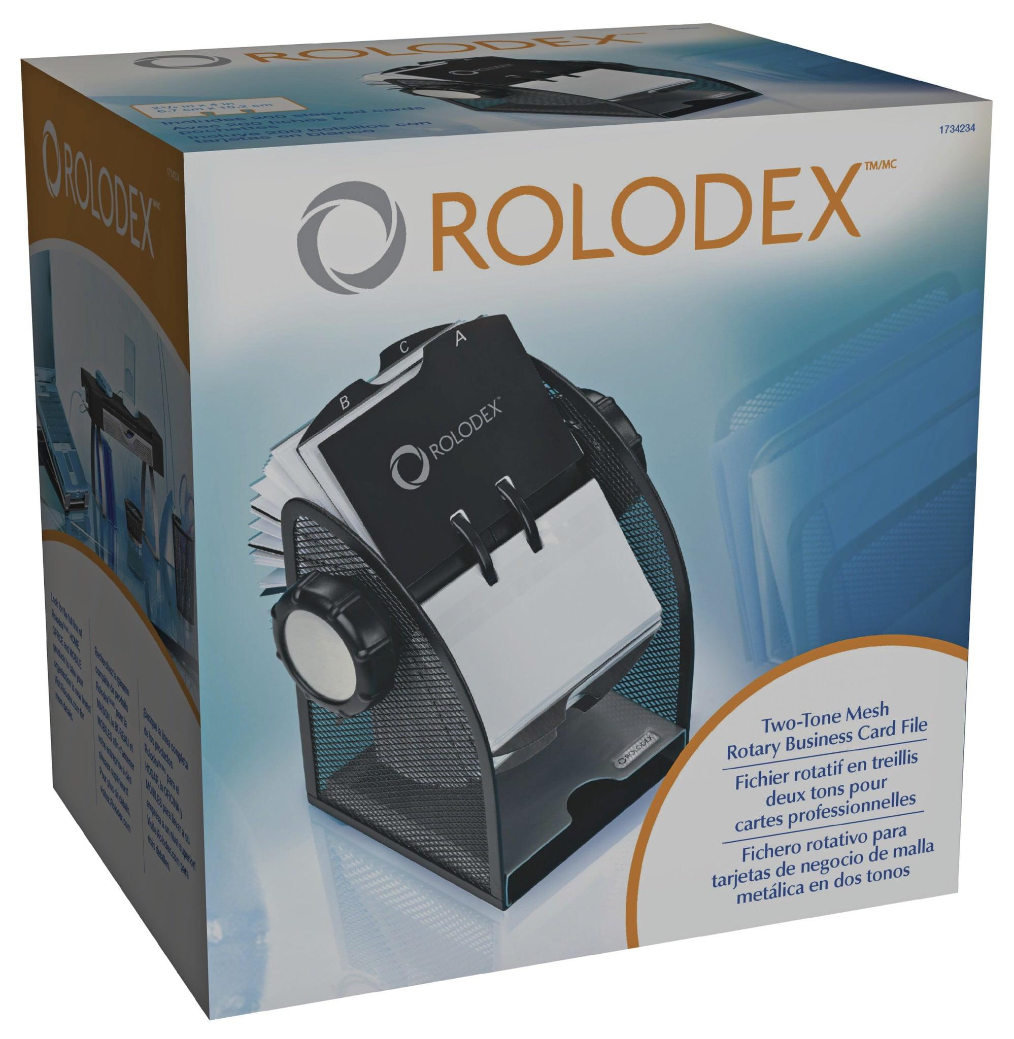 Rolodex Rotary Mesh Business Card File - Walmart.com