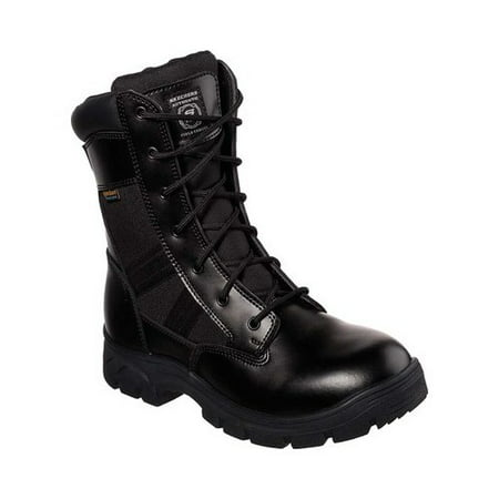 Mens 8 Inch Sport Boot - Skechers Work Men's Wascana - Athas 8 Inch Side Zip Water Proof Tactical Boots