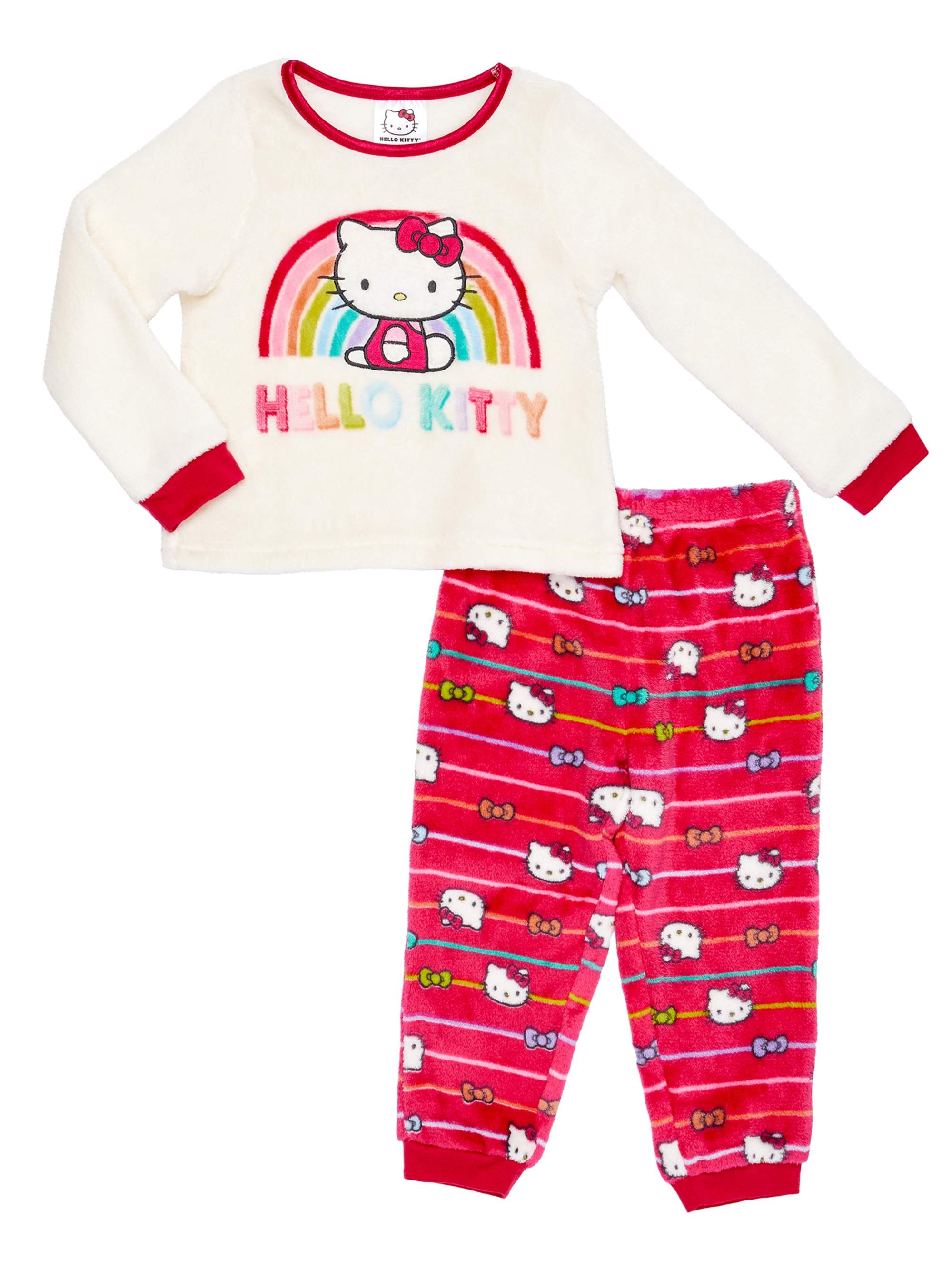 Hello Kitty Infant Girls Pink Purple Sleepwear Set Bow Print Pajamas 24m