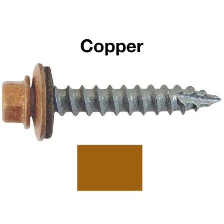14 Metal Roofing Screws 250 Screws X 1 Quot Copper Hex