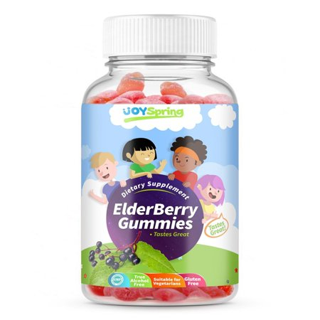 Elderberry Gummies for Kids - Best Tasting Cold and Flu Vitamins - Vitamin C, Echinacea & Propolis