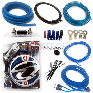 Soundquest Sqk4anl Complete 4 Gauge Amplifier Wiring Kit W  2 Channel Rca Interconnects   Anl Fuse W  Holder