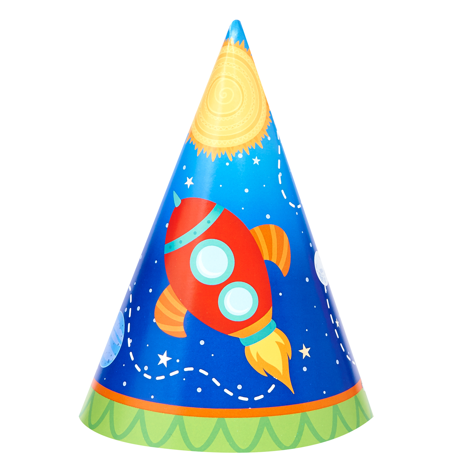 Rocket To Space Party Supplies 16 Pack Cone Party Hats