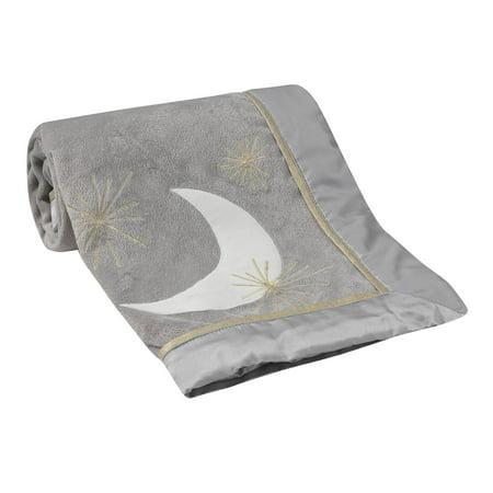 Lambs & Ivy Signature Goodnight Giraffe Moonbeams Blanket - Gray, Gold](Giraffe Blanket)