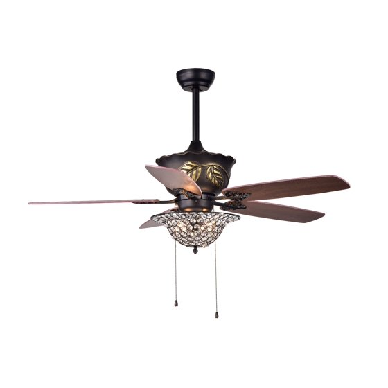 Collins 52 inch 5 blade ceiling fan crystal bowl walmart collins 52 inch 5 blade ceiling fan crystal bowl aloadofball Choice Image
