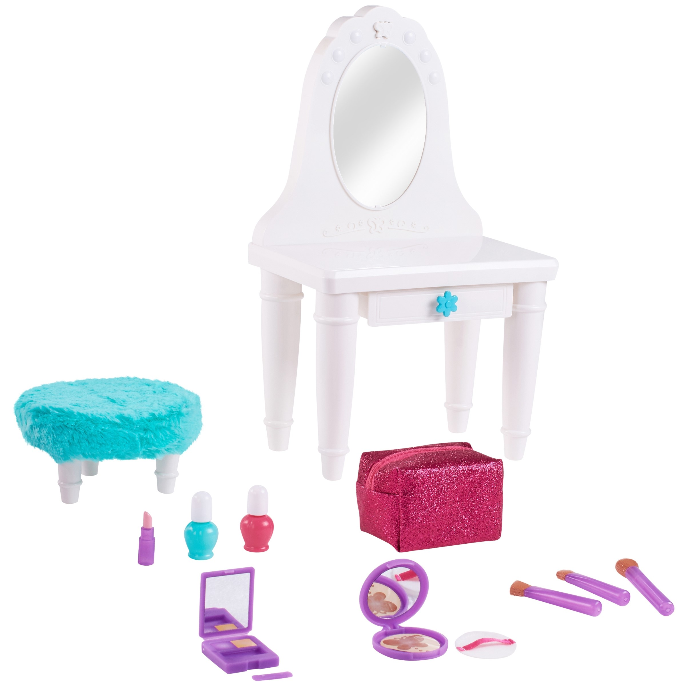 """My life as 13-piece vanity table play set, for 18"""" dolls"""