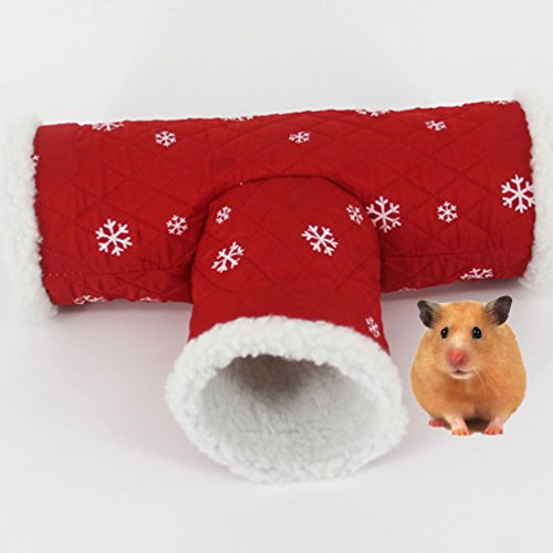 Hamster Tunnel Tube Toy Winter Warm Bed Hut House for Syrian Hamster Gerbil Rat Mouse Guinea Pig Chinchilla Squirrel Small Animal Cage