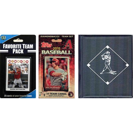 C&I Collectables MLB Arizona Diamondbacks Licensed 2015 Topps Team Set and Favorite Player Trading Cards Plus Storage Album](Arizona Trading Company)