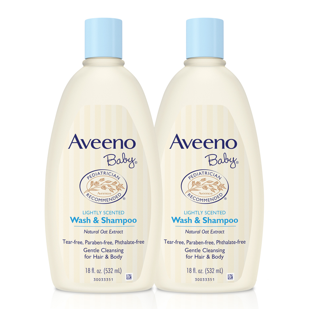 Aveeno Baby Gentle Wash & Shampoo With Oat, 18 Fl. Oz, Twin Pack