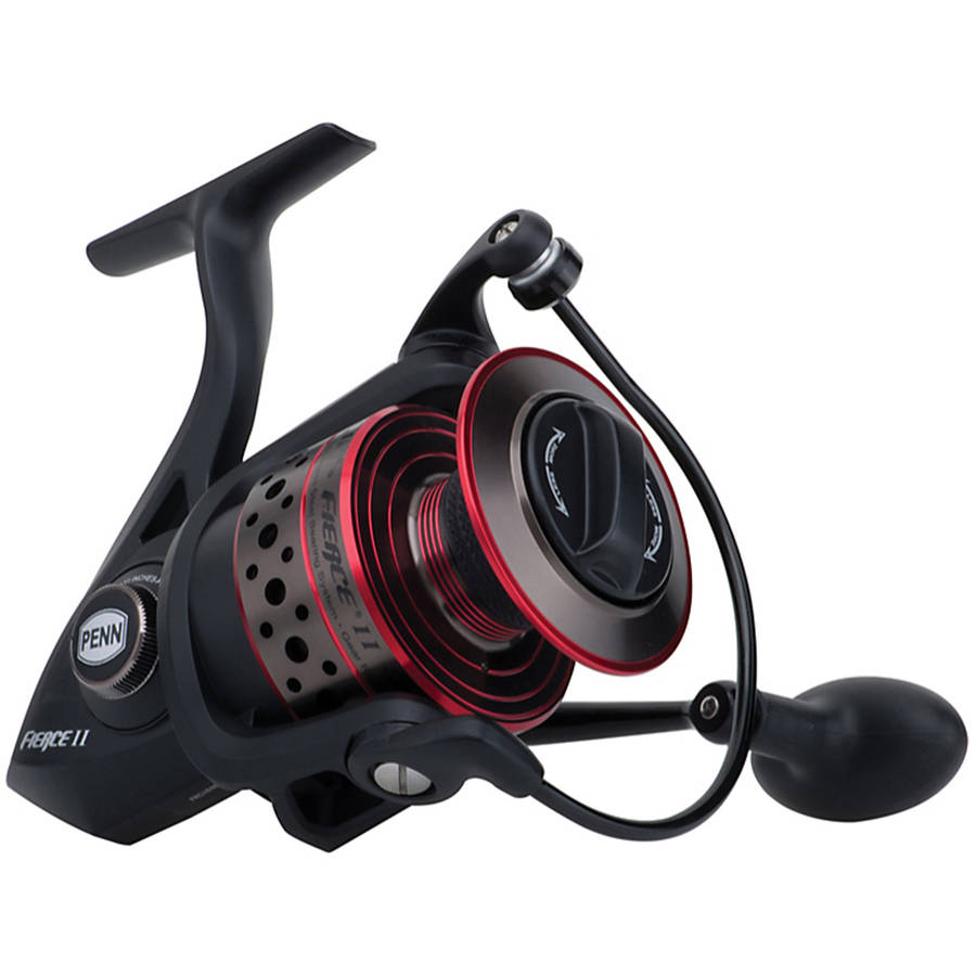 Penn Fierce II Spinning Reel 2500, 6.2:1 Gear Ratio, 5 Bearings, 7 lbs Max Drag, Ambidextrous, Clam Package