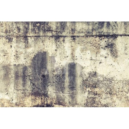 Old Weathered Concrete Wall Background Texture. Instagram Toned Effect Print Wall Art By Eugene (Textured Effect)