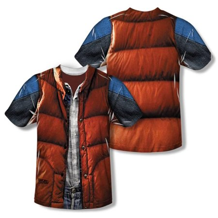 Youth: Back to the Future - Mcfly Vest Apparel Kids T-Shirt - Sublimation - Marty Mcfly Clothes
