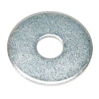 "Value Brand 3/16"" x 3/4"" OD Zinc Plated Finish Low Carbon Steel Fender Washers, 100 pk., Z0630"
