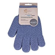 EvridWear Exfoliating Dual Texture Bath Gloves for Shower, Spa, Massage and Body Scrubs, Dead Skin Cell Remover, Gloves with hanging loop (1 Pair Heavy)