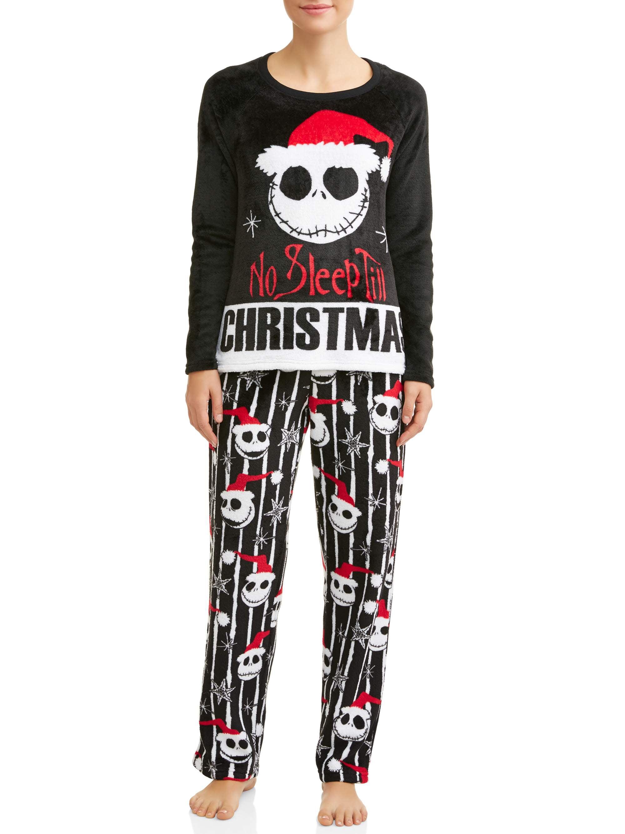 Disney Jack Skellington Nightmare Before Christmas Womens and Womens Plus Pajama Set