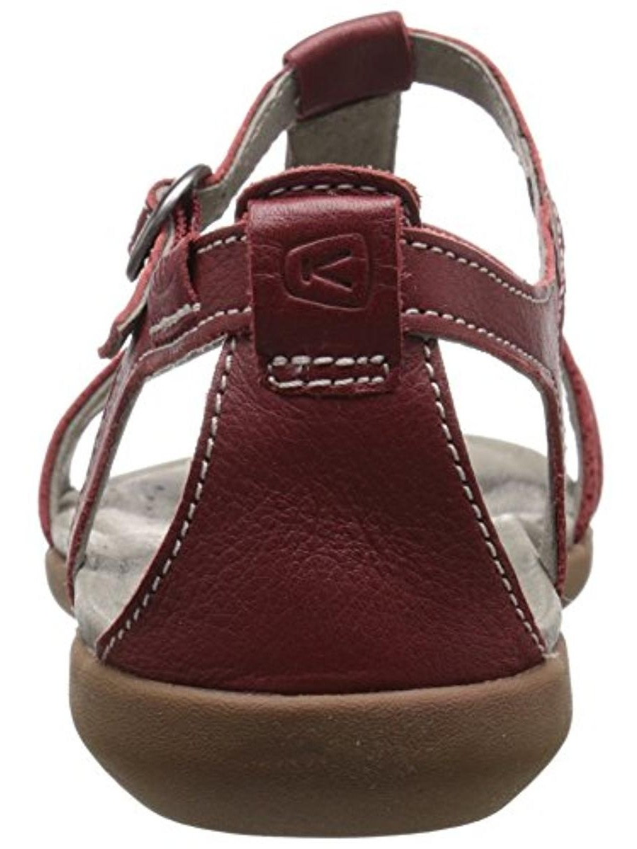 Keen Womens Rose City Leather Slingback T-Strap Sandals