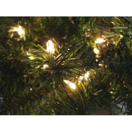 9 Pre Lit Canadian Pine Artificial Christmas Tree Clear Lights