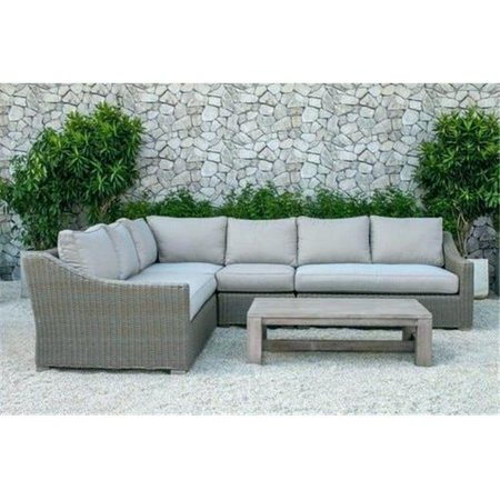 Image of Crosley Catalina Outdoor Wicker Round Sectional Sofa