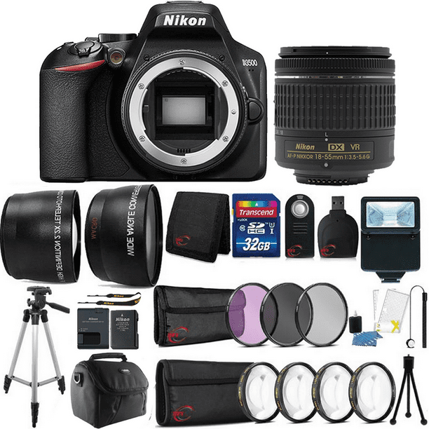 Nikon D3500 24.2MP Digital SLR Camera with AF-P DX 18-55mm VR Lens and Ultimate Accessory Bundle
