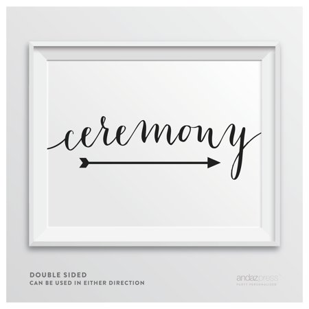 Ceremony Formal Black Wedding Party Directional Signs, Double-Sided](Wedding Ceremony Signs)