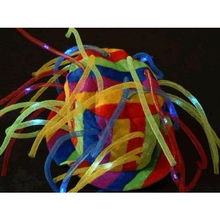 Multicolor LED Noodle Hat Flashing Dreads