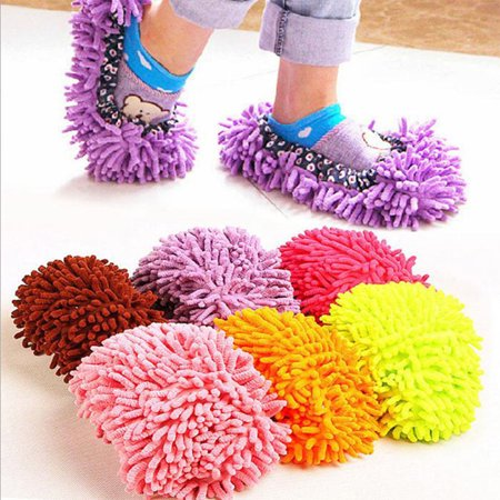 1 Pair Mop Slippers Dusting Cleaning Foot Socks Shoe Lazy Quick House Floor