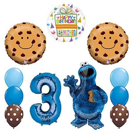 NEW! Sesame Street Cookie Monsters 3rd Birthday party supplies
