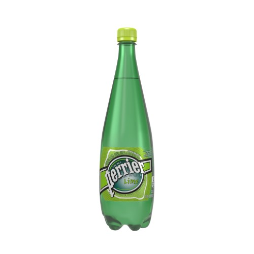 Perrier Sparkling Natural Mineral Water, Lime, 33.8 Fl Oz, 12 Count
