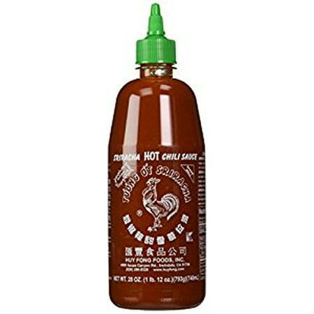 Huy Fong Sriracha Chili Hot Sauce  28 Ounce Bottle (Pack of