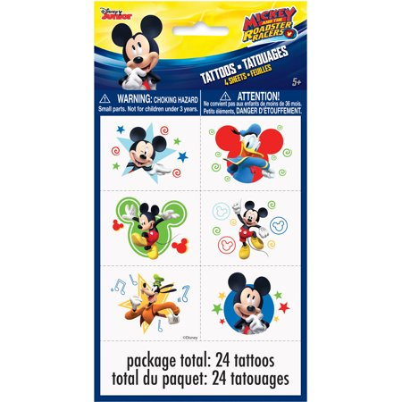 Mickey Mouse Temporary Tattoos, 24ct (Hockey Tattoos)