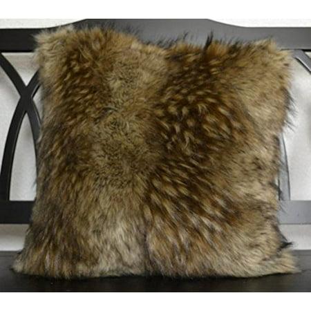 Carriage House Faux Fur Pillow, Alpaca Gold