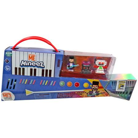 Despicable Me Mineez Balthazar Bratt, Clive & Dumont Diamond Figure 3-Pack [Limited Edition Set] (Despicable Me Toys)