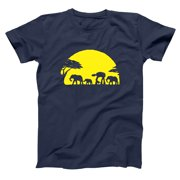 At-At Walking Africa Sunset Small Navy Basic Men's T-Shirt