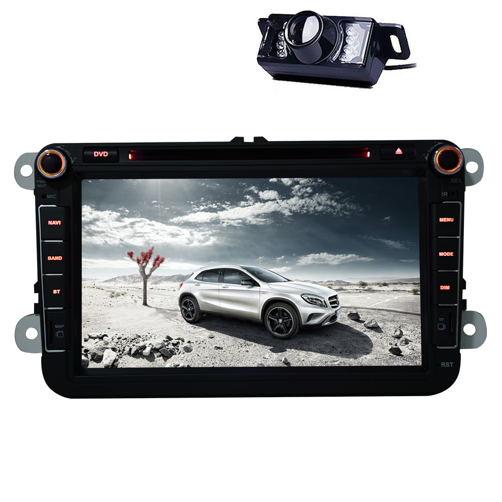 8 Inch Touchscreen  VW Car Stereo 2 Din  GPS Navigation D...