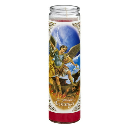 Saint Michael Archangel - Bright Glow Candle St. Michael Archangel Candle, 10.0 OZ