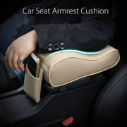 Universal Leather Memory Foam Car Auto Seat Center Console Armrest Cushion Pillow Arm Support Pad