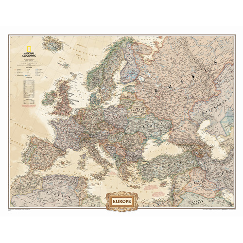 National Geographic Maps Europe Executive Wall Map