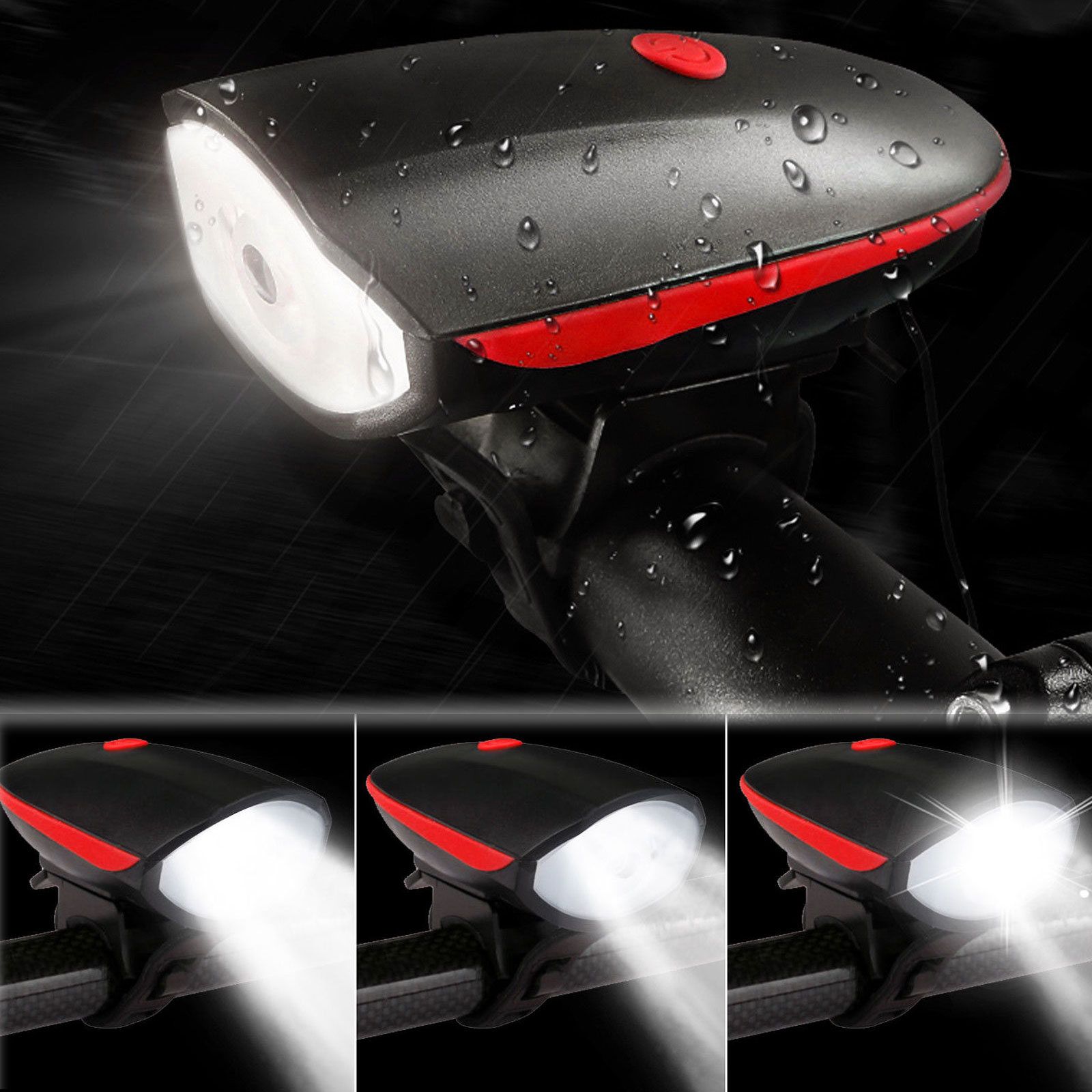 Bike Headlight & Taillight Set USB Rechargeable Super Bright Bicycle Light