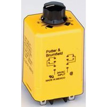 Amperite Time Delay Relay (TE CONNECTIVITY / POTTER & BRUMFIELD CLB-51-70010 TIME DELAY RELAY, DPDT, 10SEC, 120VAC)