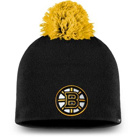 Boston Bruins Fanatics Branded Women's Paramount Pom Knit Beanie - Black - OSFA (Boston Bruins Pom Beanie)