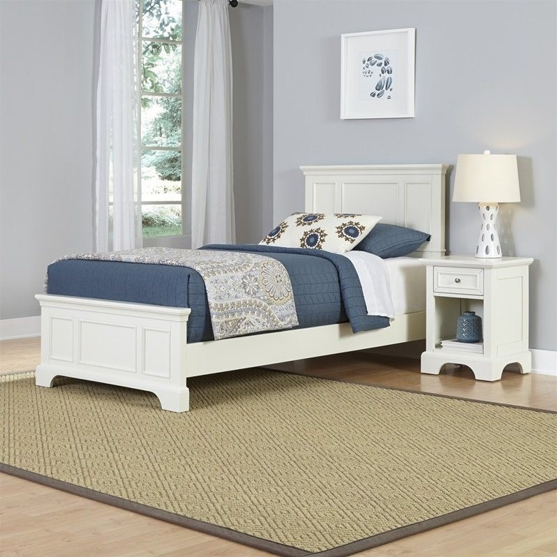 Home Styles Naples Twin Bed and Night Stand