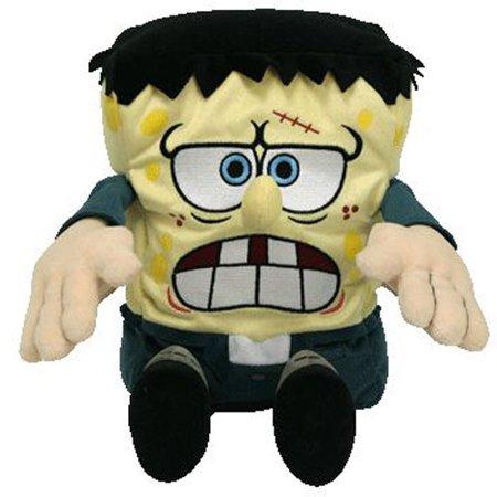 TY Beanie Buddy - SPONGEBOB SQUAREPANTS (Frankenstein) (Medium - 12.5 inch) - Spongebob Frankenstein