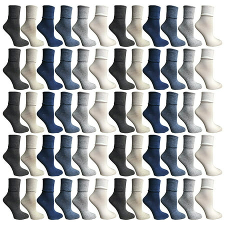 SOCKS'NBULK Womens Crew Socks, Bulk Pack Assorted Chic Sports Athletic Socks, Multicoloured (9-11) (60 Pack Assorted) - Breast Cancer Socks Bulk