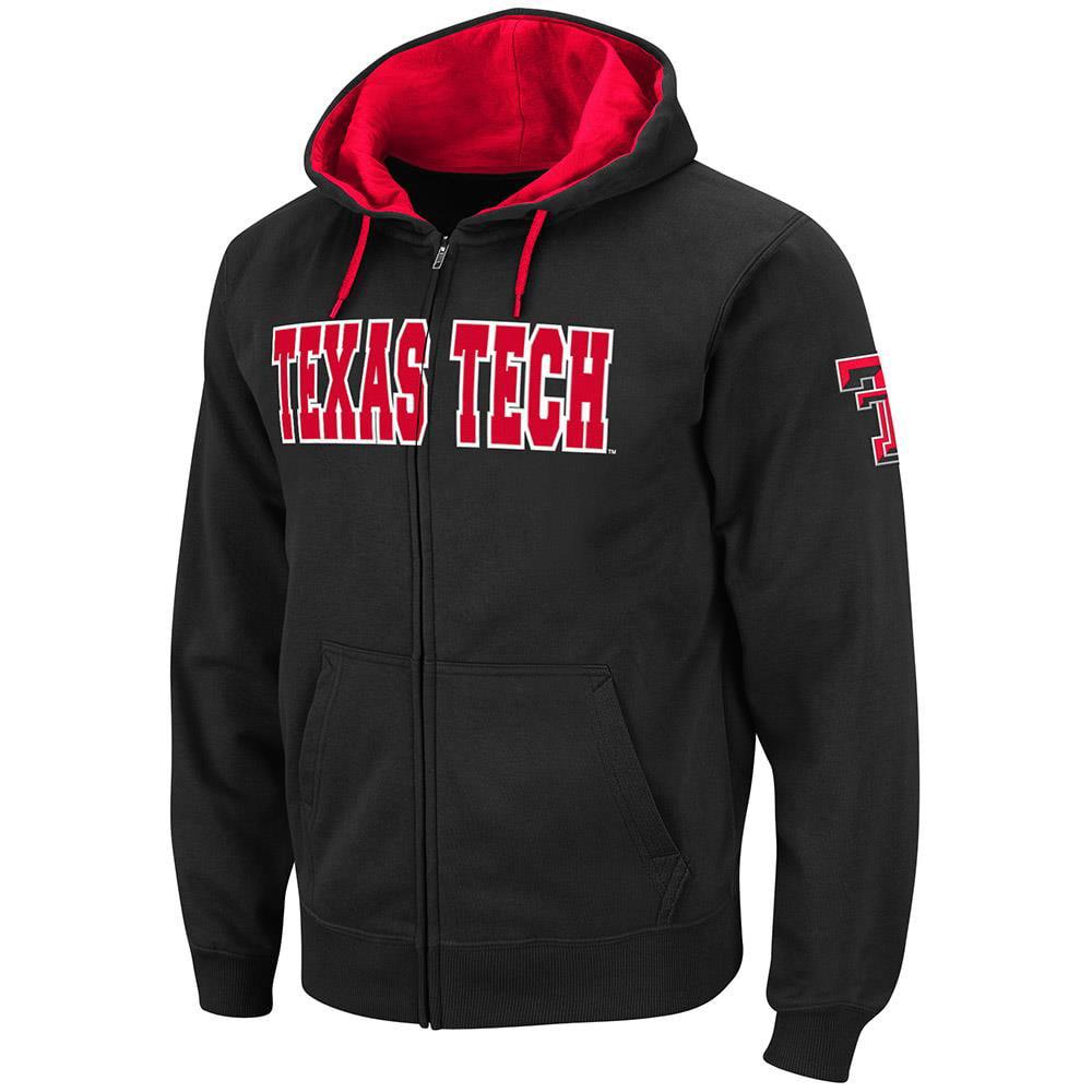 Mens Texas Tech Red Raiders Full Zip Hoodie - S