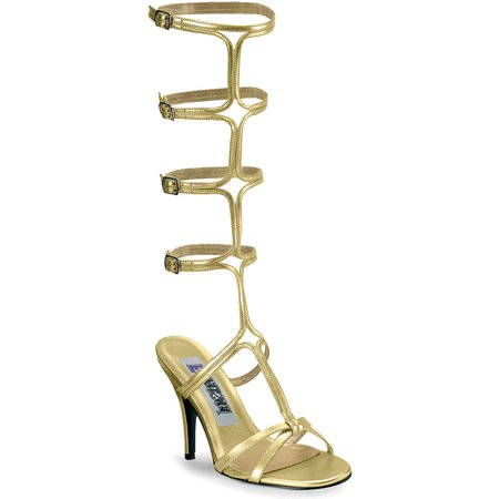 - 4 Inch Gold Heel Sexy Greek Sandal Shoe Theatre Costumes Accessory