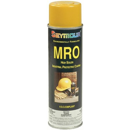 Seymour Industrial Mro High Solids Enamel Spray Paint, Equipment Yellow 620-1443