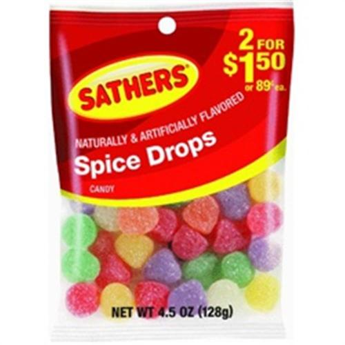 Sathers Spice Drops 12 pack (4.5oz per pack) (Pack of 6)