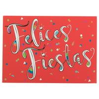 JAM Deluxe Spanish Christmas Cards Set, Felices Fiestas, 12/Pack