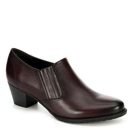 Medicus Womens Klara Slip On Leather Heeled Pump